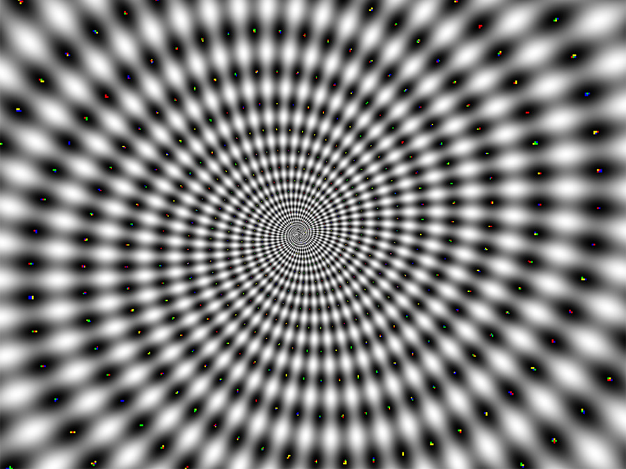 Mesmerizing spiral image commonly used to hypnotize people