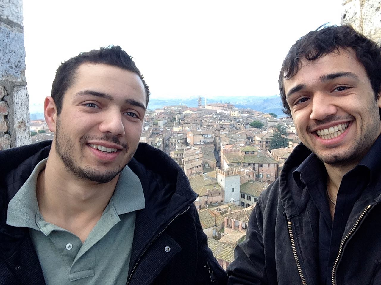 Zach and Jake Teeny selfie in Italy