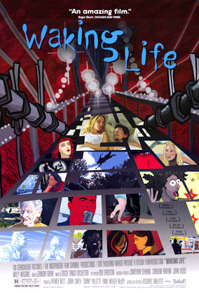 "poster of ""Waking Life"" film"