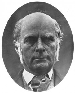 Standard portrait iImage of Francis Galton, statistician and psychologist