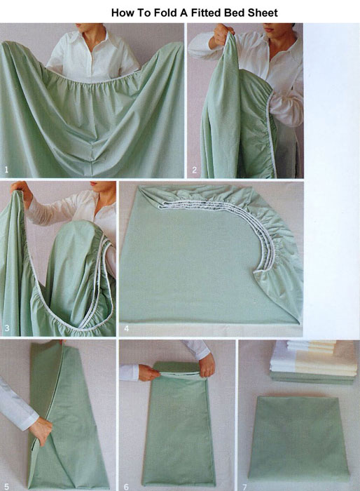 how to fold a bed sheet demo