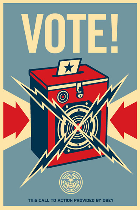 old time voting poster