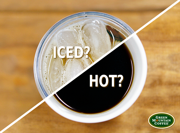 image of coffee asking iced or hot?