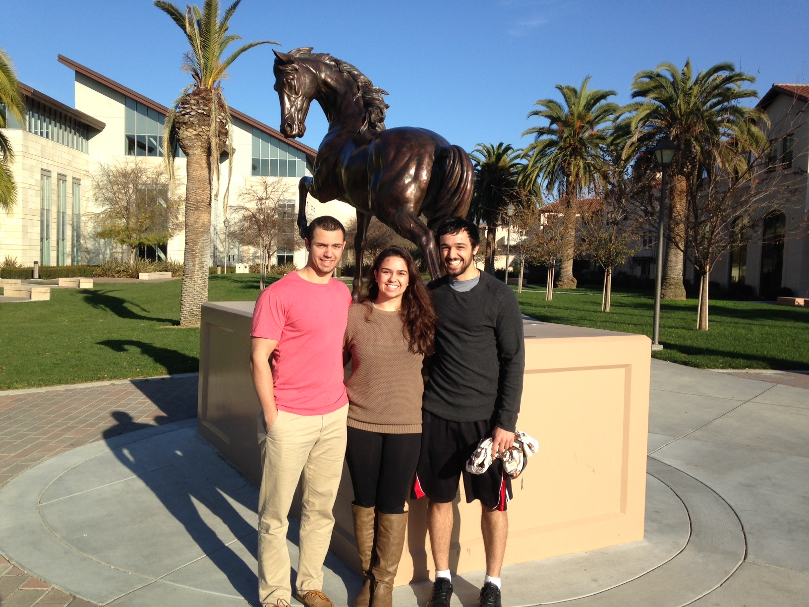 Zach, Rhonda and Jake Teeny at SCU