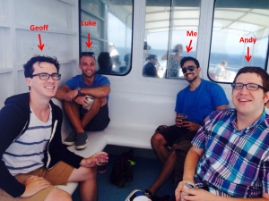 This was taken from last summer--the last time my popular lab mates would take a picture with me free of charge