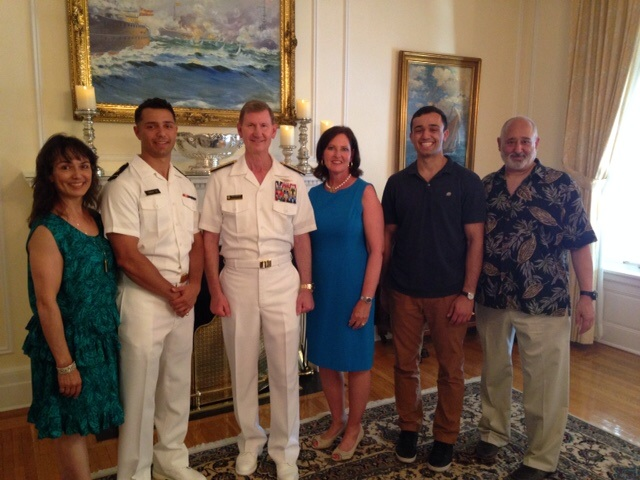 family photo with USNA grad