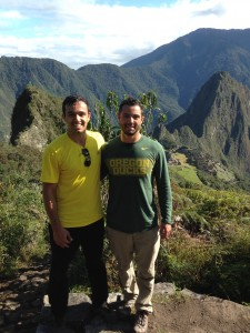 That's Machu Picchu in the background