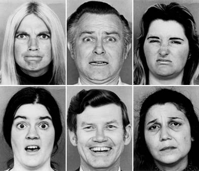 photograph of faces with different emotions