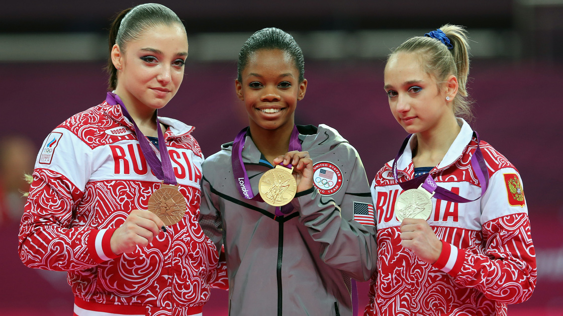 photo of medal winners in sporting event