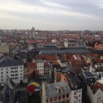 This photo of Brussels was taken from the top of a Ferris Wheel--which, riding by yourself, may be the loneliest experience ever