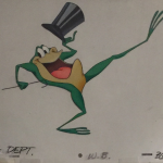 original warner brothers singing frog illustration